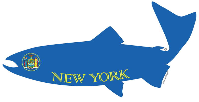 New york state fish flag for New york state fish