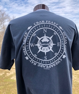 Maryland Crab Compass T-Shirt