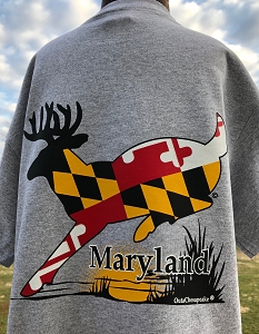 Outa Chesapeake® T-shirt - Maryland Buck - Sport Gray
