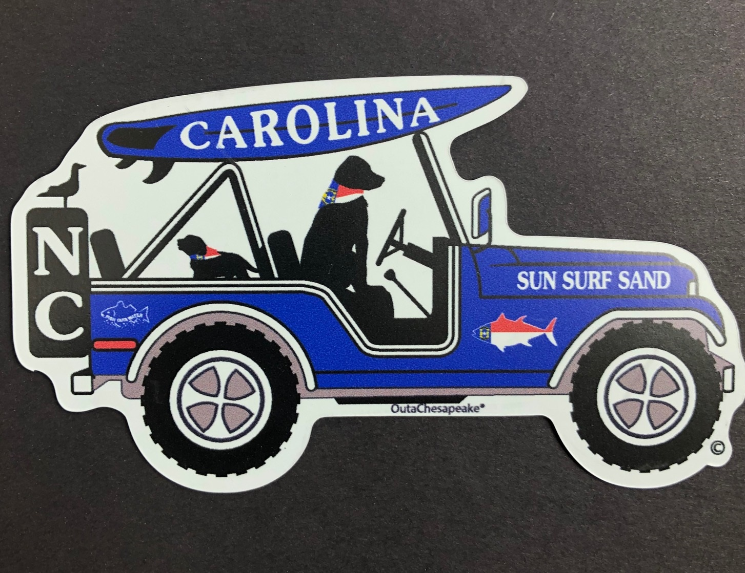 North Carolina Surf Buggy Magnet and Decal
