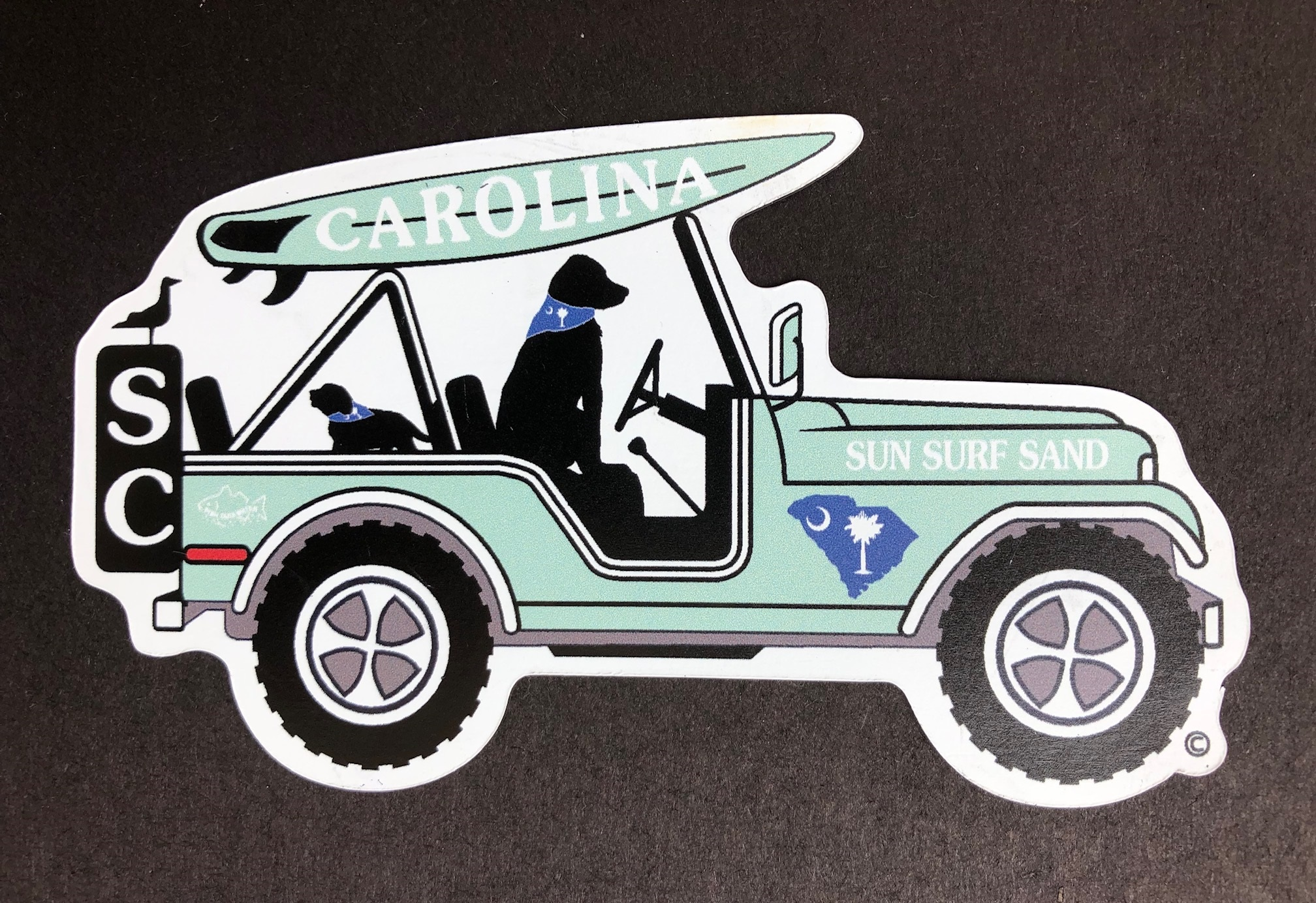 South Carolina Surf Buggy Magnet and Decal