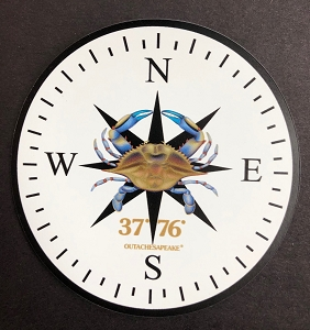 Outa Chesapeake® Blue Crab Compass Rose Magnet