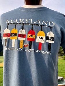 Maryland Colors Buoy T-Shirt (White Letters)
