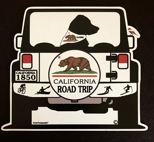 California Road Trip Magnet