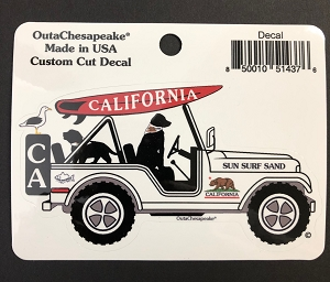 California Surf Buggy Decal