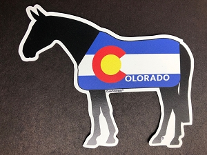 Colorado Flag Horse Magnet and Decal