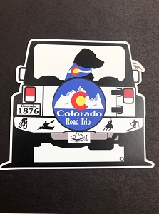 Colorado Road Trip Magnet and Decal