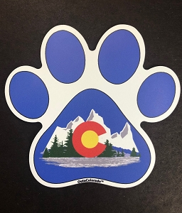 Colorado State Flag Paw Magnet