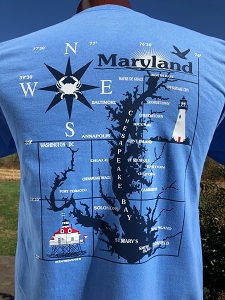 Outa Chesapeake® T-shirt - Chesapeake Bay Lighthouses