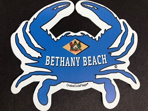 Crabs Outa Bethany Beach - Custom Cut Magnet