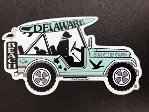 Delaware Surf Buggy Magnet and Decal
