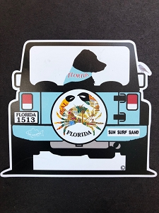 Florida Road Trip Magnet and Decal