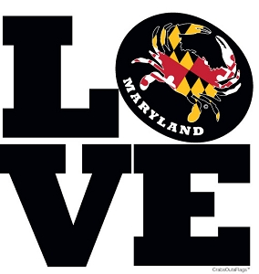 LOVE Maryland Crab Magnet