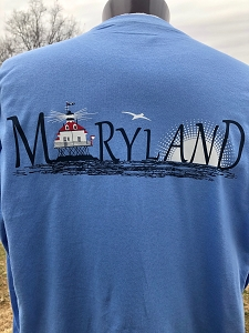 Outa Chesapeake® T-shirt - MARYLAND Lighthouse T-Shirt