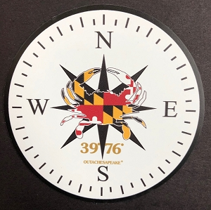 Outa Chesapeake® Maryland Crab Compass Rose Magnet