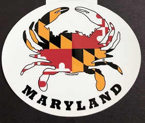 Crabs Outa Maryland Oval Decal