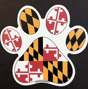 Outa Chesapeake Maryland Paw Print