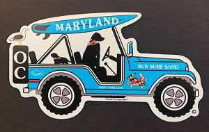 Maryland Surf Buggy Magnet or Decal