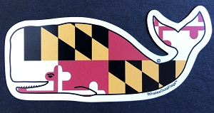 Whales Outa Maryland Magnet and Decal