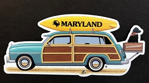 OutaChesapeake® - MARYLAND Woody Station Wagon Magnet