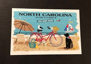 Outa Chesapeake® NC Beach Scene Postcard
