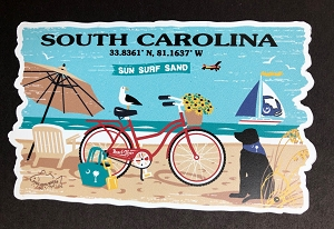South Carolina Beach Life Magnet