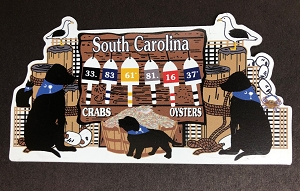 South Carolina Buoy Dogs Magnet