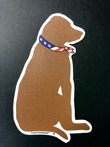 All American Brown Dog Magnet