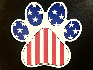 All American Paw Magnet and Decal