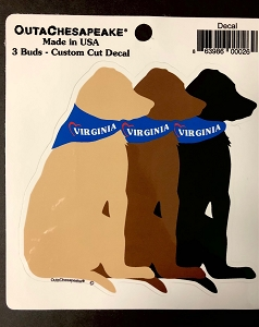 Virginia 3 Dog Decal