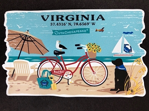 Outa Chesapeake® Virginia Beach Life Magnet