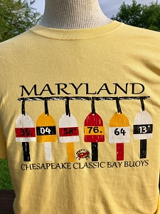 Maryland Colors Buoy T-Shirt (Black Letters)