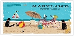 Outa Chesapeake ® Maryland Beach Life Beach Towel