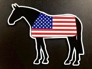 All American Horse Magnet and Decal