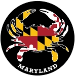 Crabs Outa Maryland - Black Oval