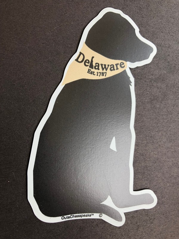 Outa Chesapeake® Delaware Dog Magnet and Decal