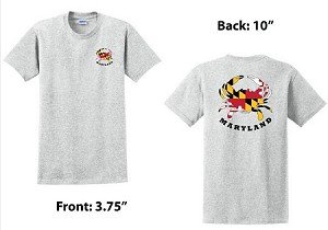 Crabs Outa Maryland - Ash Gray T-Shirt