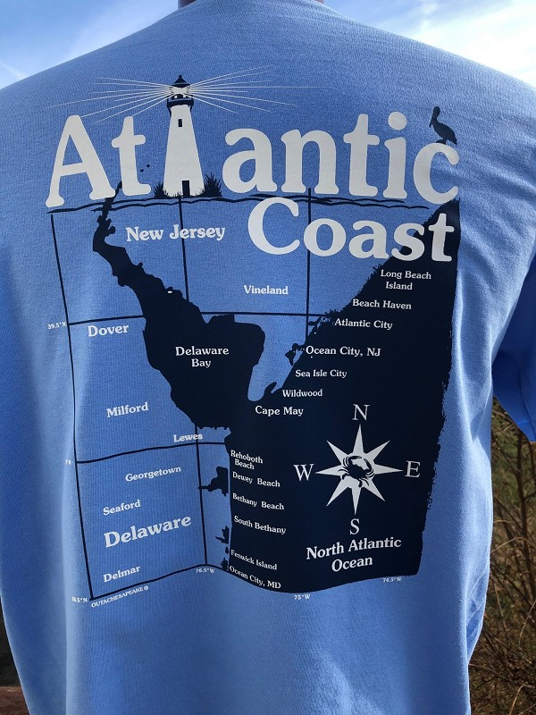 Outa Chesapeake® Atlantic Coast Delaware Bay T-Shirt