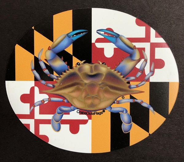 Crabs Outa Water - Oval Magnet and Decal