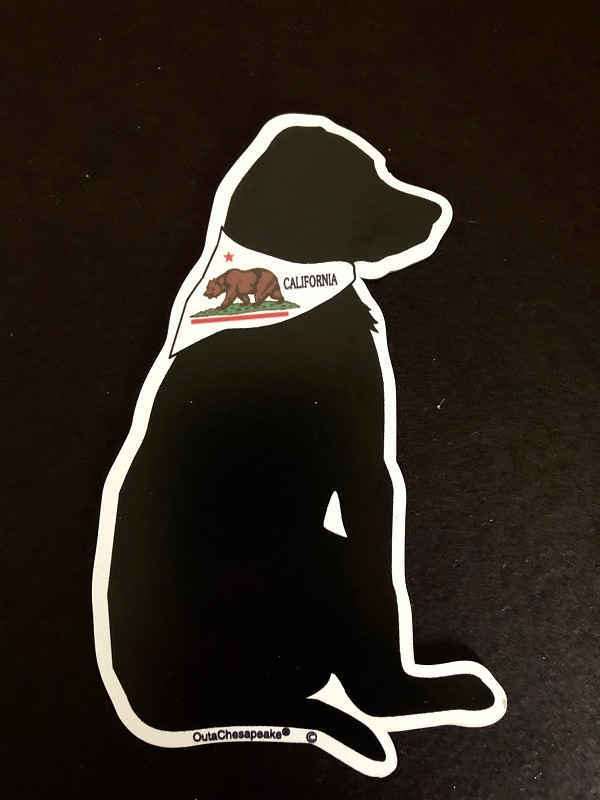 California Flag Dog Magnet and Decal