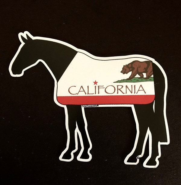 California Flag Horse Magnet and Decal