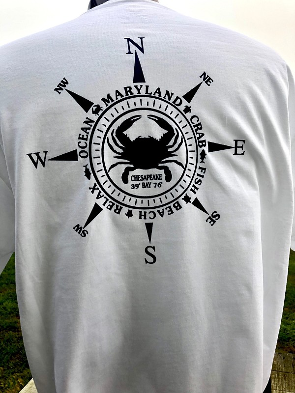 Maryland Crab Navy Compass T-Shirt