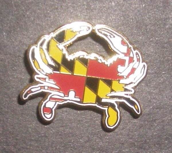 Crabs Outa Maryland - Custom Cut Pin