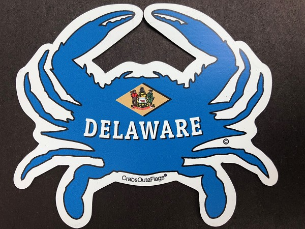 Crabs Outa Delaware - Custom Cut - Magnet and Decal