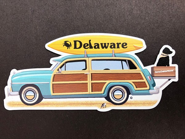 Outa Chesapeake® Delaware Vintage Woody Magnet
