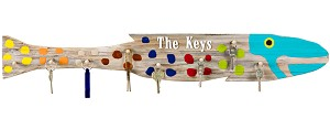 Fish Outa Planks - Recycled Wood Fish with Key Pegs