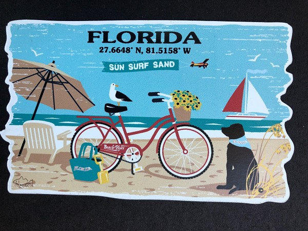 Outa Chesapeake Florida Beach Life Magnet