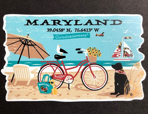 Maryland Beach Life Magnet