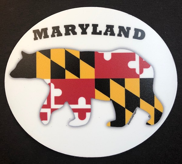 Bears Outa Maryland - Oval Magnet