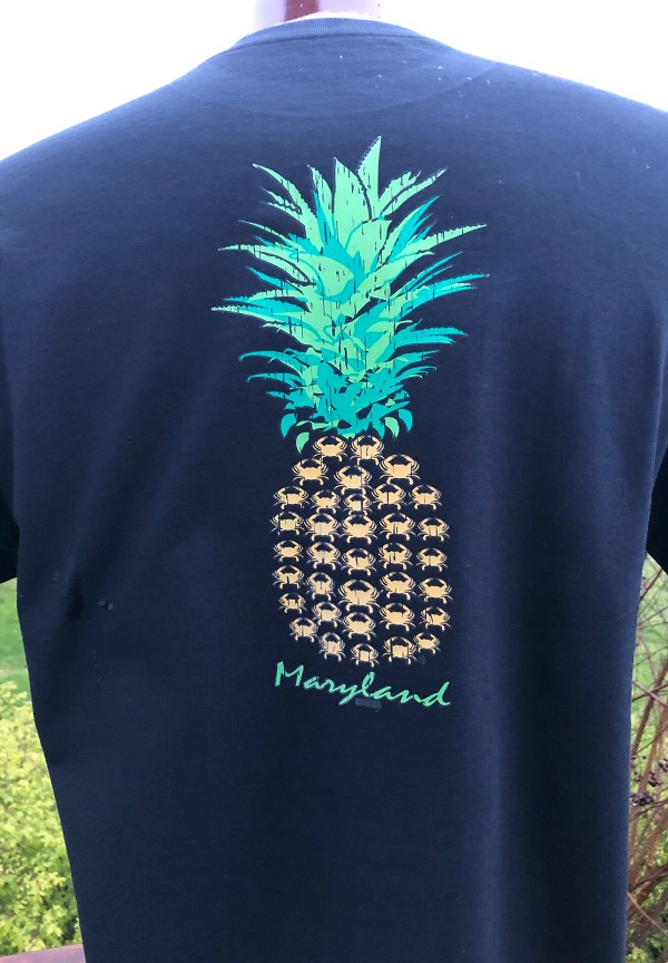 CrabsOutaFlags® Maryland Pineapple Crab T-Shirt